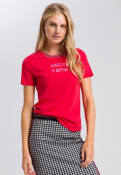 Printshirt mit Strassdetails