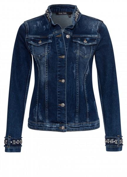 Jeansjacke mit Schmuckdekor