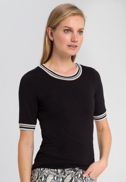 Shirt mit Ringelbündchen