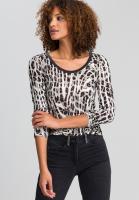 Shirt im auffälligen Animalprint