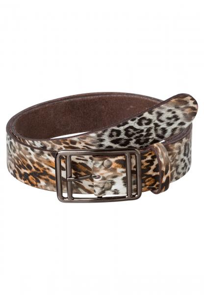 Gürtel mit Leopardenprint