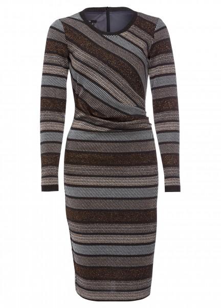 Kleid mit Lurexstreifen
