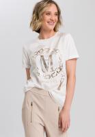 Shirtbluse mit Metallicprint