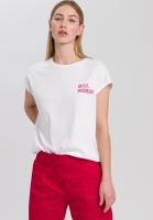 T-Shirt mit kleinem Mottoprint