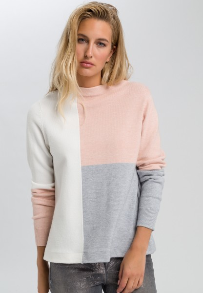Pullover mit Colourblocking