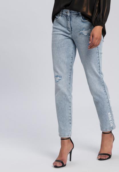 5-Pocket-Jeans aus reyceltem Demin mit Destroys