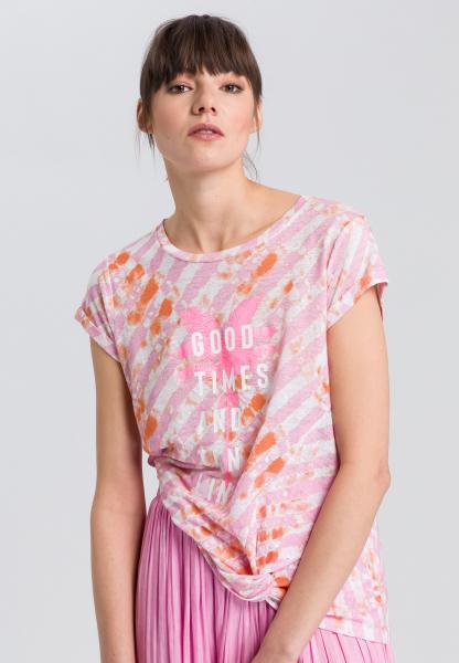T-Shirt mit Batikprint