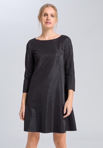 Kleid aus Metallic-Jersey