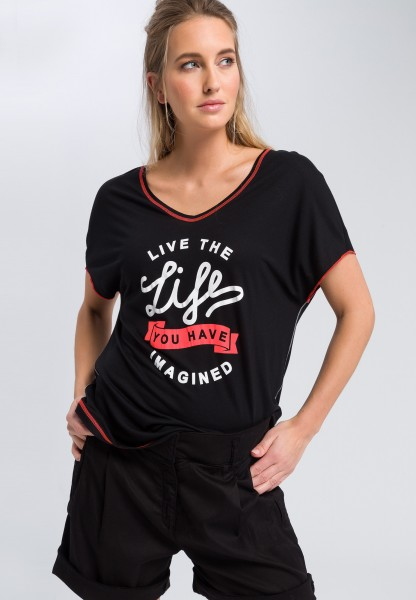 T-Shirt Mit Statement-Print
