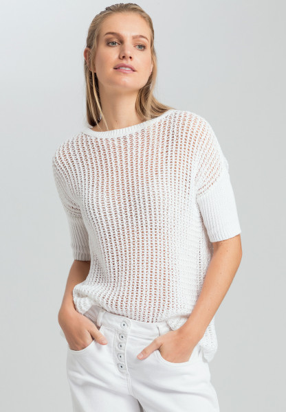 Pullover in Netzoptik