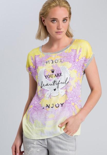 Printshirt mit Pailletten