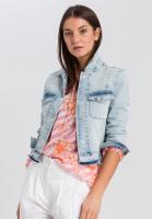 Jeansjacke mit Rückenprint