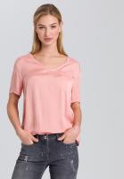 Blusenshirt mit aufgesetzter Tasche