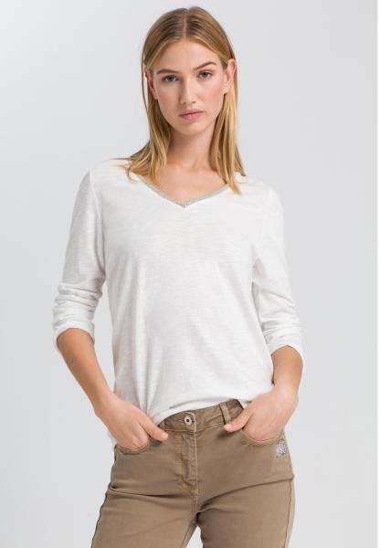 T-Shirt mit Metallkettendetail