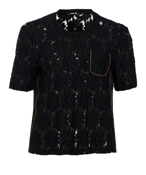 T-Shirt aus Spitze mit Tasche