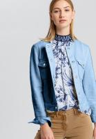 Jeansjacke mit Metallknöpfen