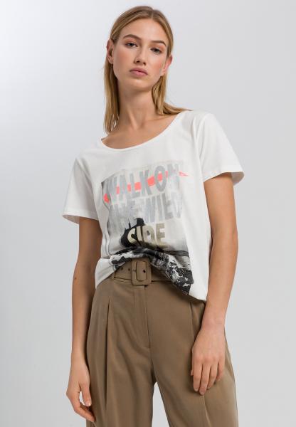 T-Shirt mit Metallic-Fotoprint