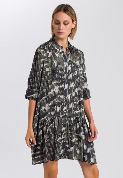 Kleid mit abstraktem Camouflageprint