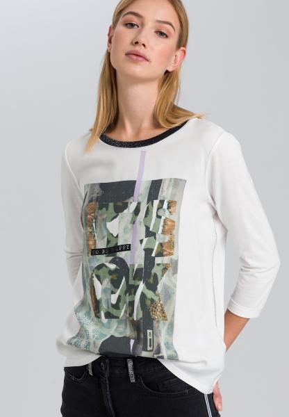 T-Shirt mit Animalfrontprint