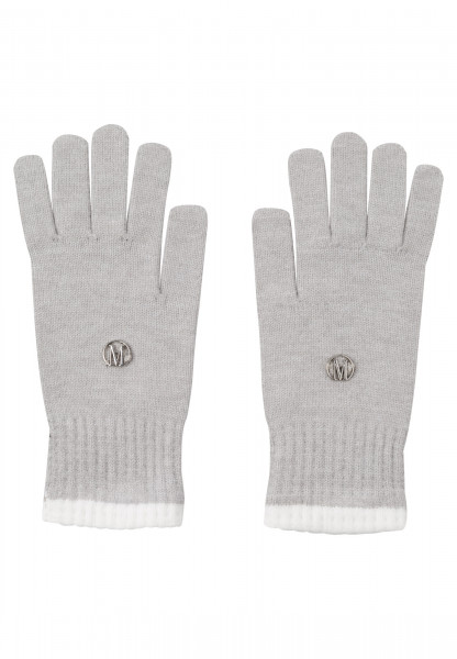 Handschuhe mit Logo-Plakette