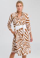 Hemdblusenkleid mit Tiger-Allovermuster