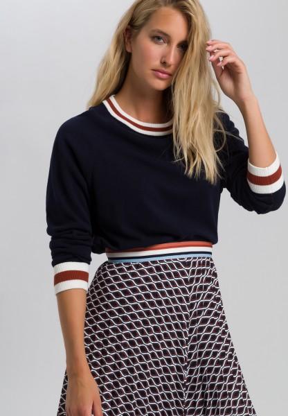 Pullover mit Kontrastringel