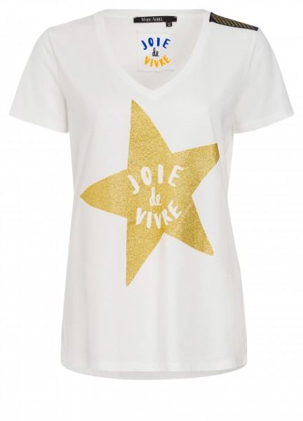 T-Shirt mit Glitzerapplikation