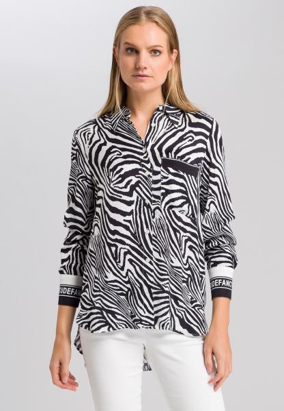 Bluse im Zebra-Print
