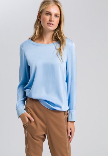 Shirtbluse mit Rippbündchen