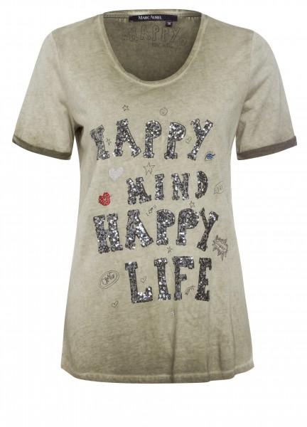 T-Shirt mit Statementprint
