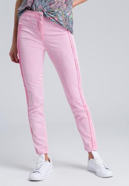 Skinny-fit-Jeans mit Fransenkante