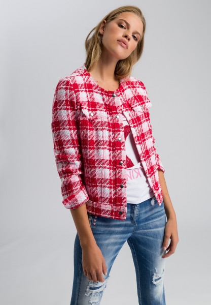 Jacke in Bouclé-Optik