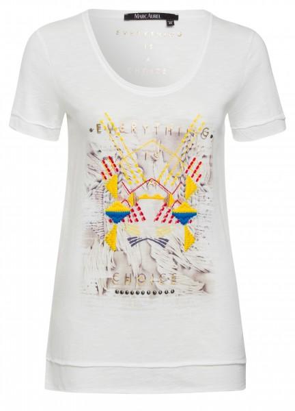 Printshirt mit Stitchings