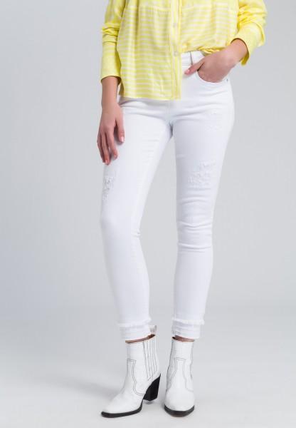 Slim-fit-Jeans im Destroyed-Look