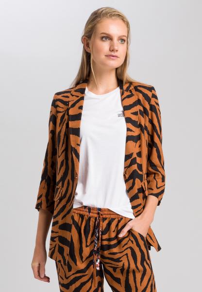 Blazer mit Tigermuster