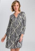 Kleid mit Leopardendruck samt Kette