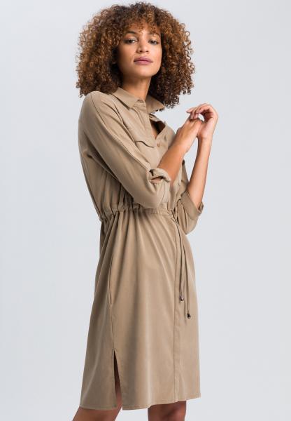 Safarikleid aus nachhaltigem Twill