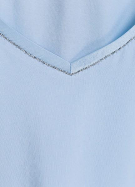T-Shirt mit Seidenkante