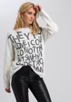 Pullover mit Schriftelementen