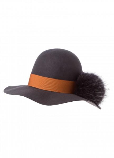 Wollhut mit Fake Fur
