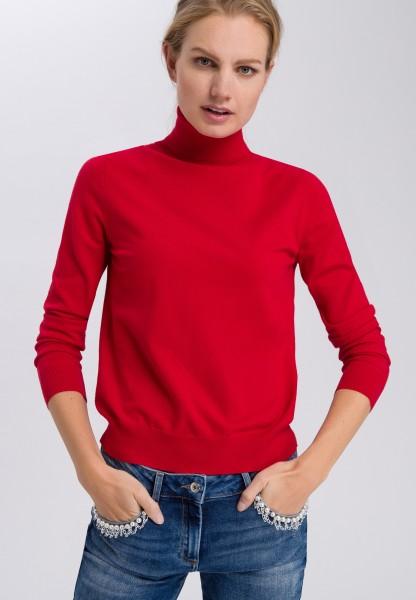 Pullover im Basic-Look mit Rollkragen