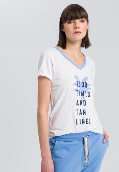 T-Shirt mit Palmenprint