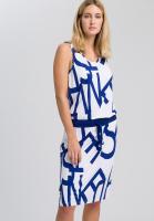 Jerseykleid mit Schriftdruck