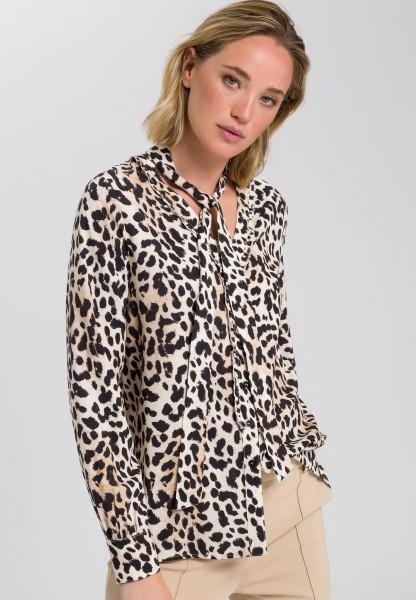Bluse im Leoparden-Print