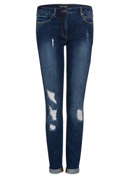 Jeans mit Besatz und Ziernaht
