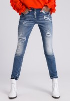 Jeans mit Destroyed-Details