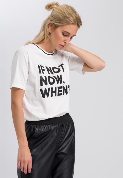 T-Shirt mit Glitzerschrift