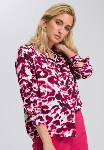 Hemdbluse mit Batikprint