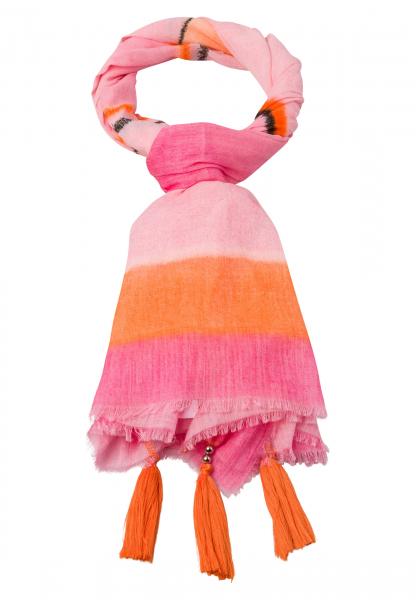 Rechteckiges Tuch mit Colour-Blocking-Streifen