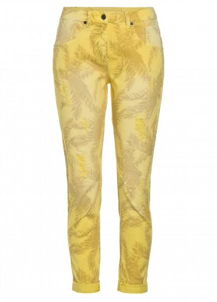 Jeans mit Alloverprint